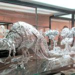 Ein Pfau aus Aluminium